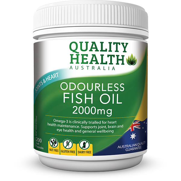 QUALITY HEALTH ODOURLESS FISH OIL 2000MG CAP X 200